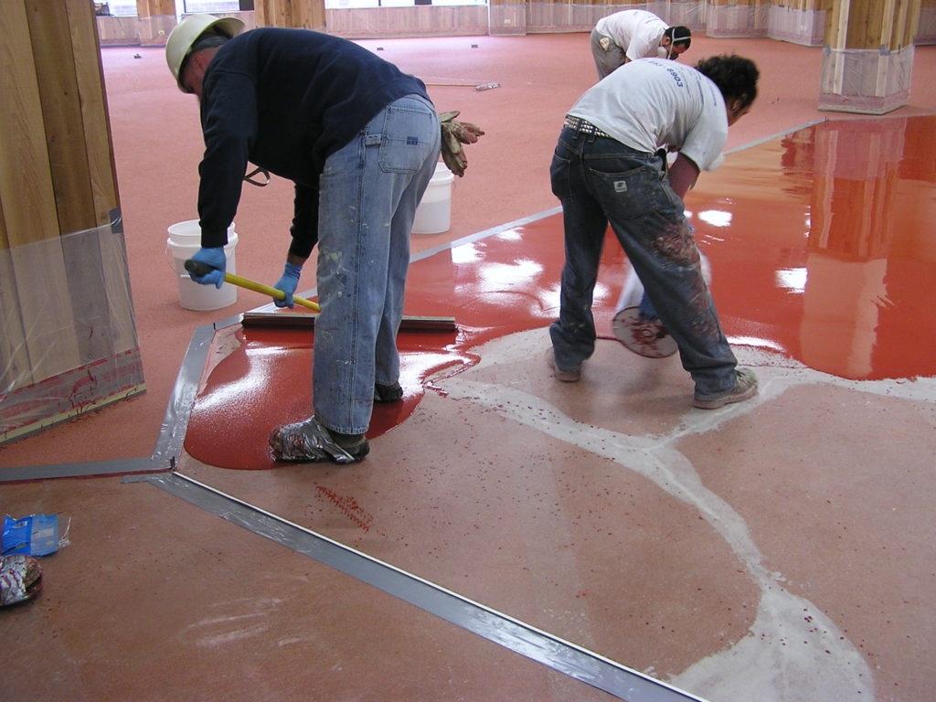 Applying Epoxy Floor Coating